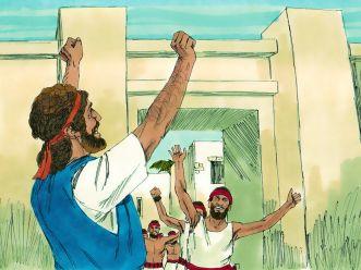Nehemiah wall built