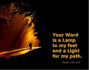 Word lamp unto my feet